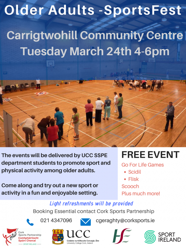 Carrigtwohill Community Centre - Older Adults SportsFest