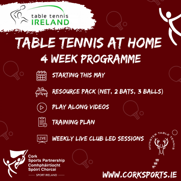 Table Tennis At Home - 4 Week Programme